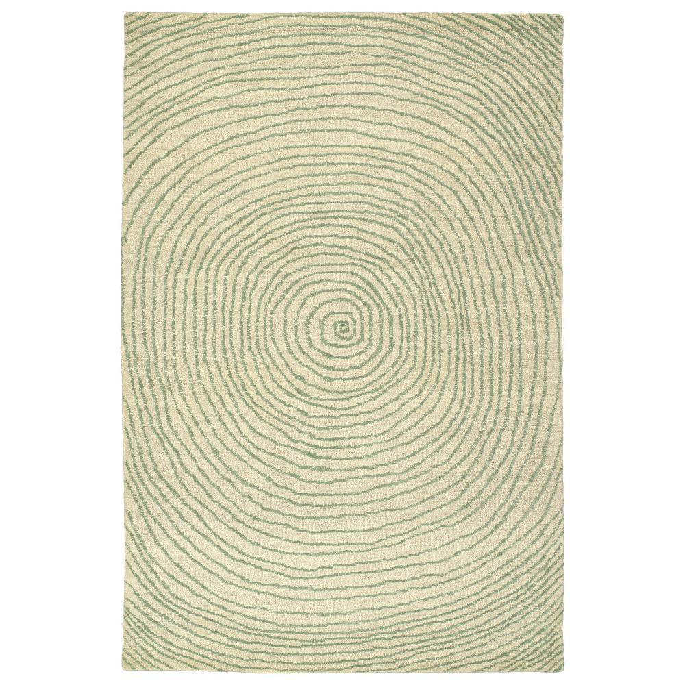 Textura Green 8 ft. x 10 ft. Area Rug