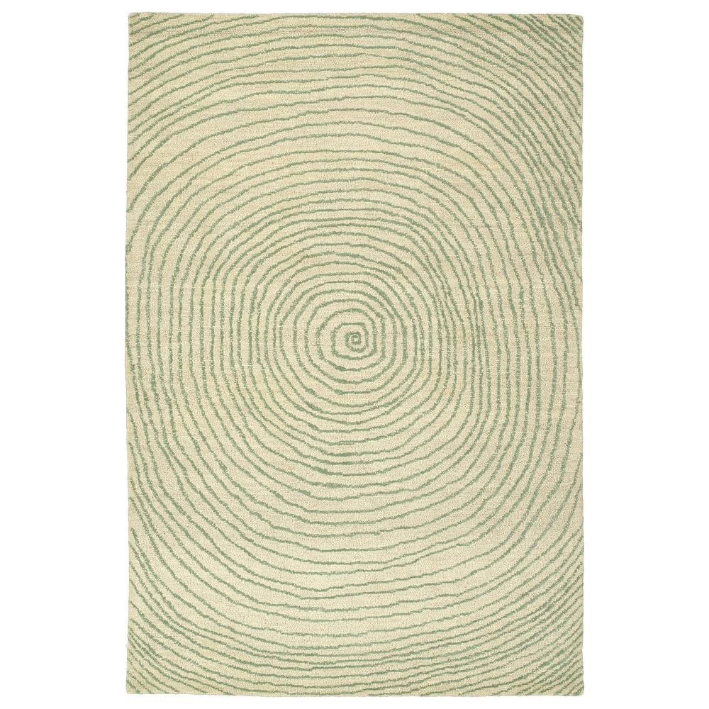 Textura Green 9 ft. x 12 ft. Area Rug