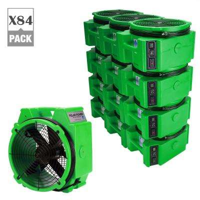 PB-25 1/4 Polar Axial Blower Fan High Velocity Air Mover for Water Damage Restoration in Green (84-Pack)