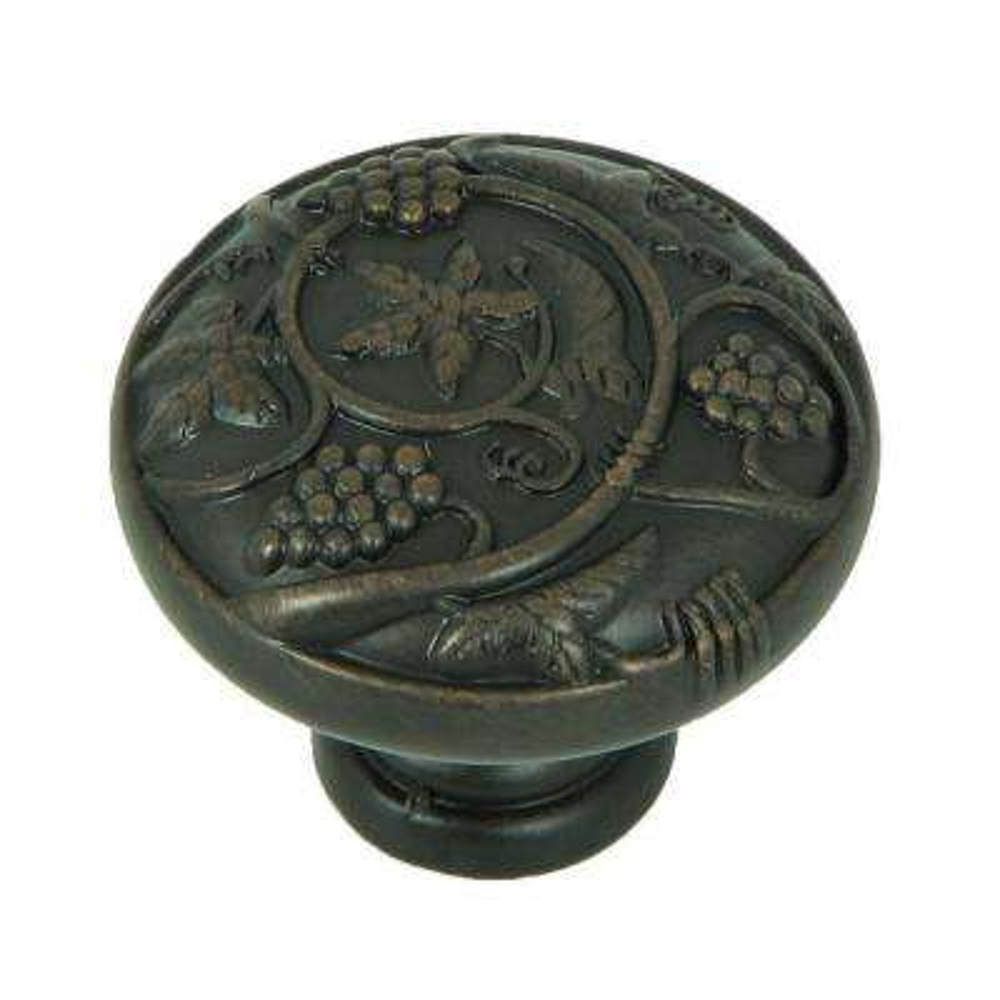 Vineyard Harvest 1-1/4 in. Oil Rubbed Bronze Round Cabinet Knob