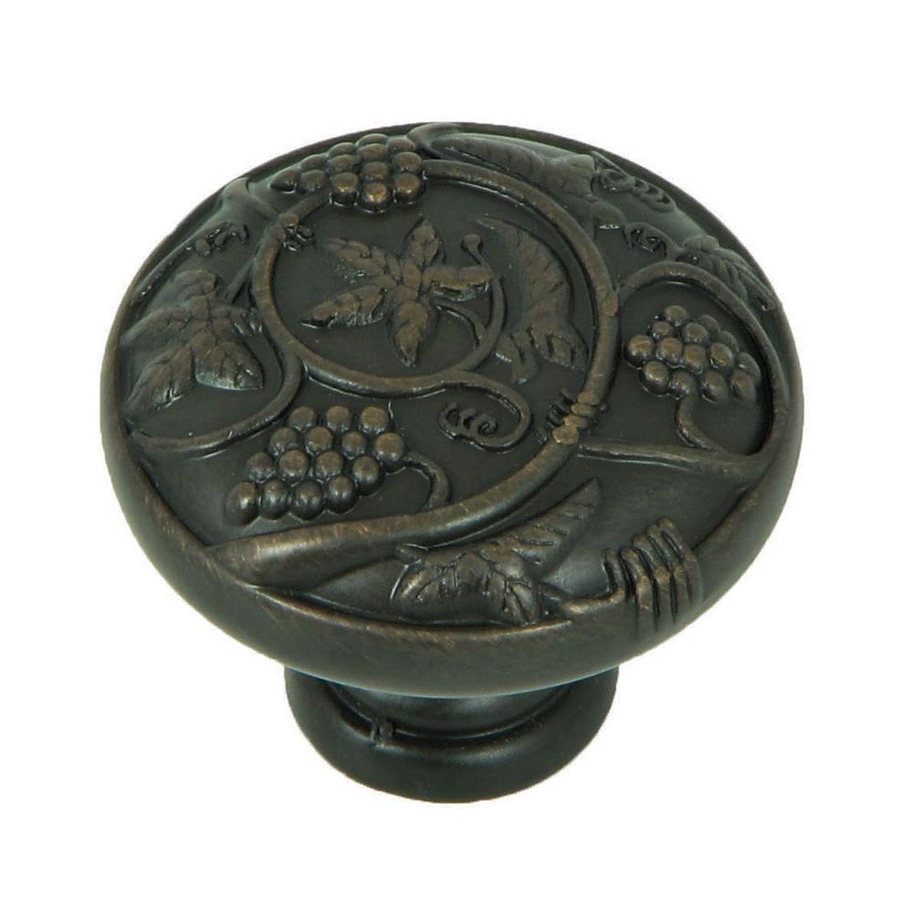 Vineyard Harvest 1-1/4 in. Oil Rubbed Bronze Round Cabinet Knob (10-Pack)