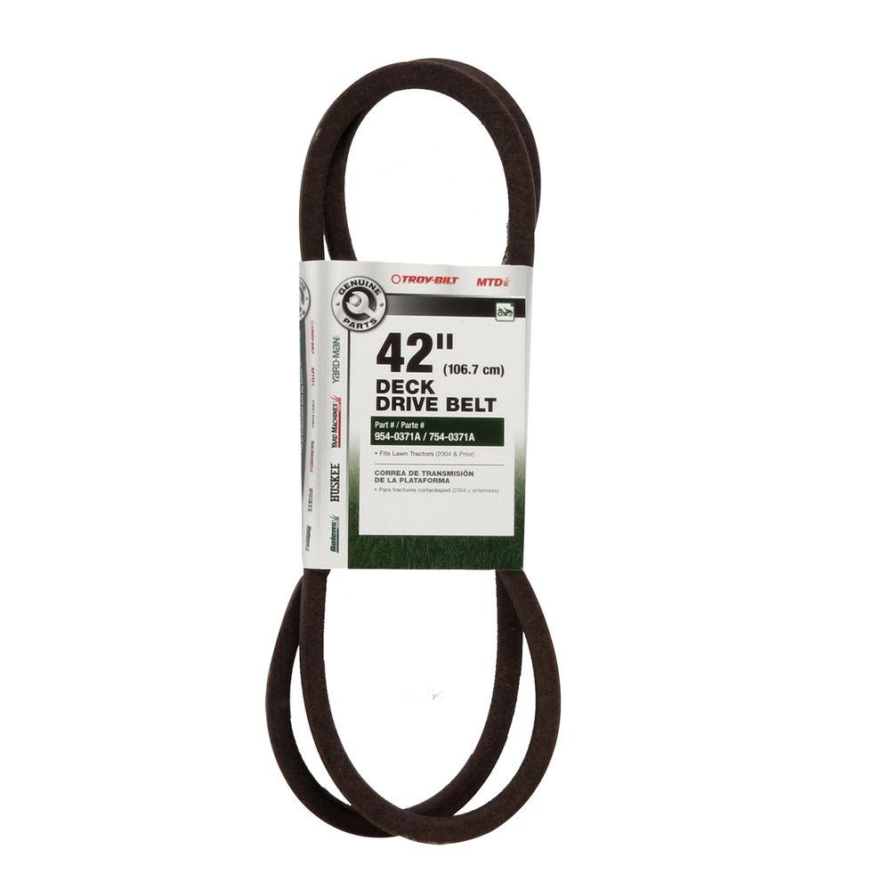 John Deere 48 In Deck Drive Belt Gx21833 The Home Depot La140 Wiring Diagram For 42 600 Series Lawn Tractors 2007