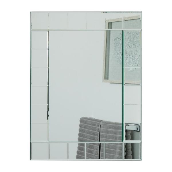 Decor Wonderland 32 In X 24 In Rectangle Montreal Modern Frameless Bathroom Mirror With Etched Beveled Edges Dwsm414 1n The Home Depot