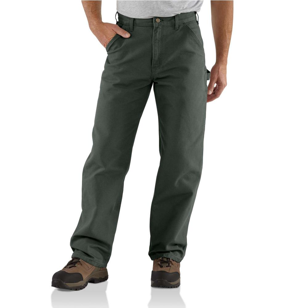 Men's 35 in. x 30 in. Moss Cotton Washed Duck Work