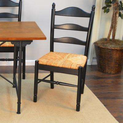 Vera Antique Black Wood Dining Chair