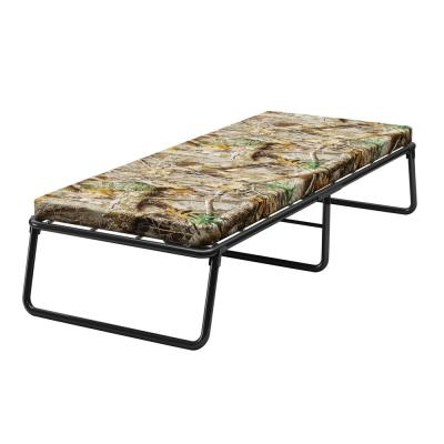 Forest Park Camo Single Size Foldaway Guest Bed Cot with Memory Foam Mattress