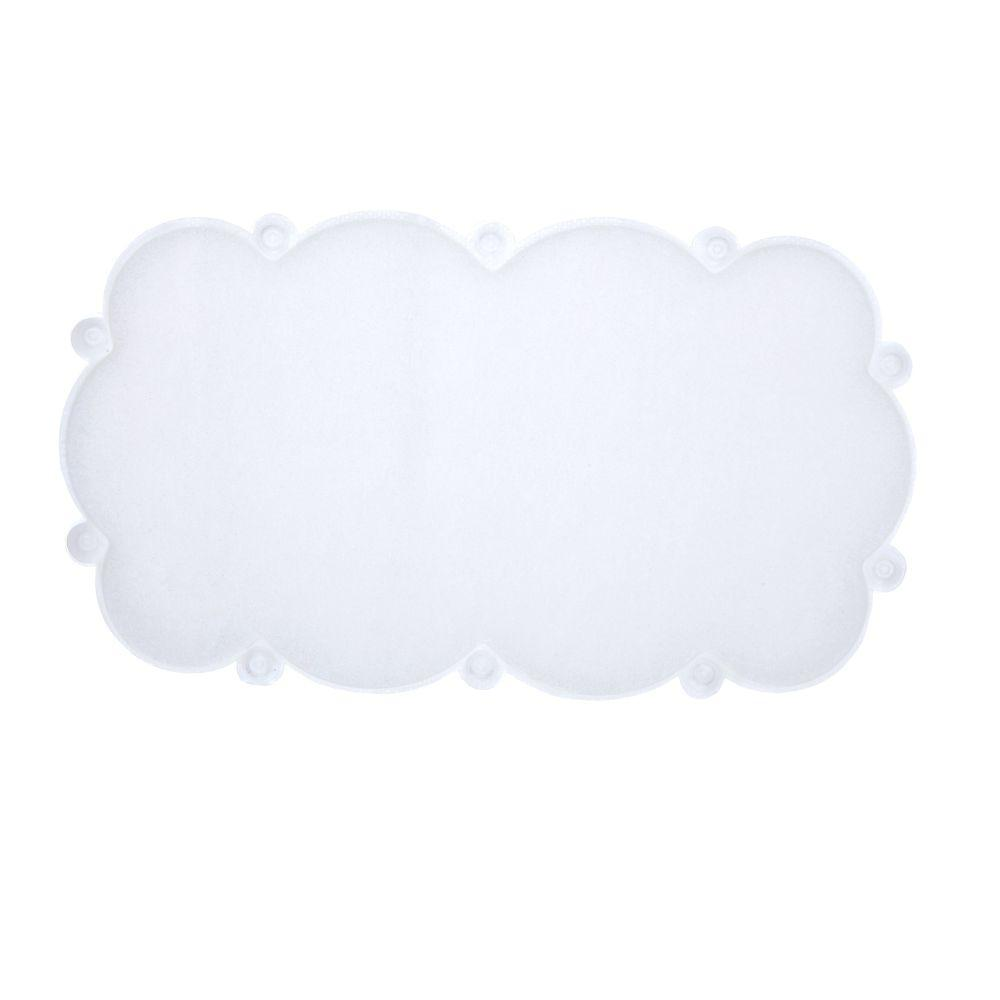 17 in. x 29 in. Cloud Bath Mat with Microban in