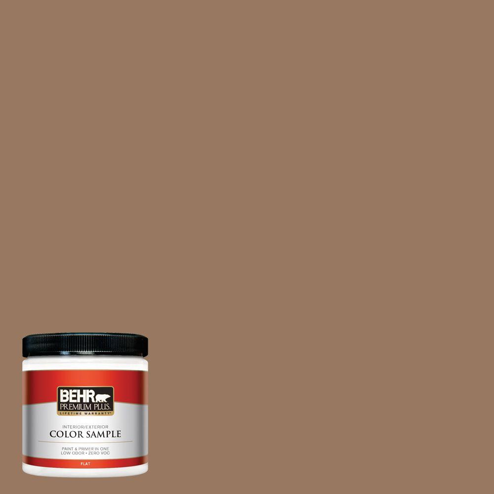 BEHR Premium Plus 8 oz. #ECC-40-3 Seasoned Acorn Interior/Exterior Paint Sample