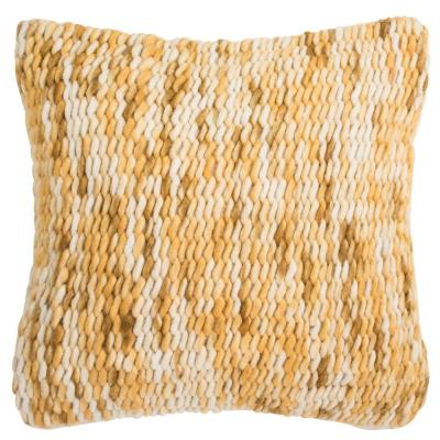 All Over Weaving Tuscan Sun Solid Down Alternative 20 in. x 20 in. Throw Pillow