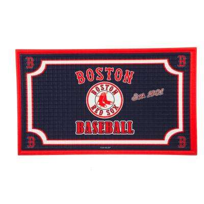 Boston Red Sox 18 in. x 30 in. Embossed Welcome Mat
