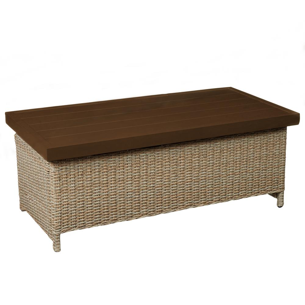 Lemon Grove Wicker Outdoor Trunk Table