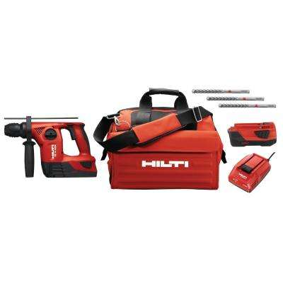 TE 4 Amp 22-Volt Advanced Compact Cordless Rotary Hammer Drill Package with Tool Bag
