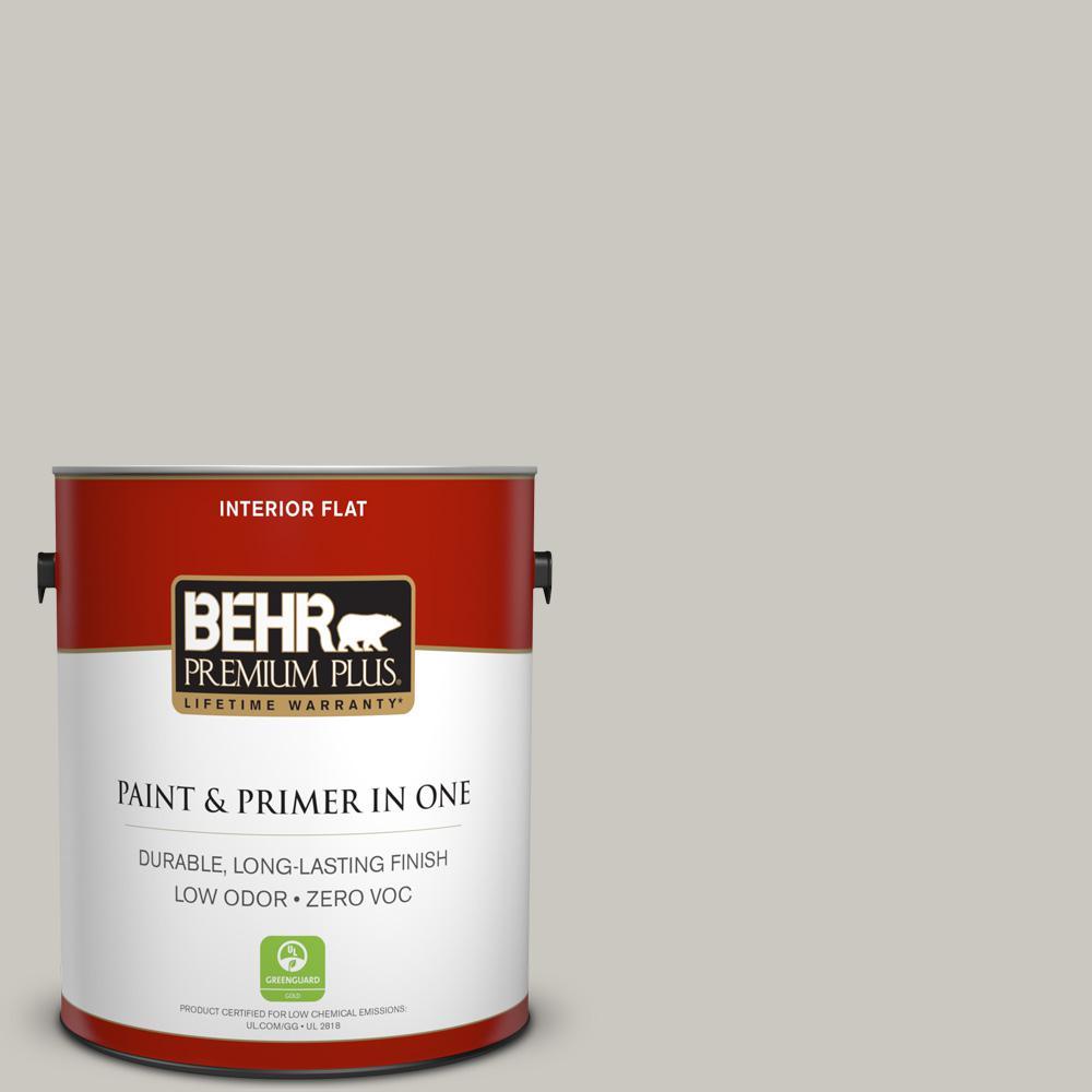 1 gal. #PPU24-12 Whitewash Oak Zero VOC Flat Interior Paint