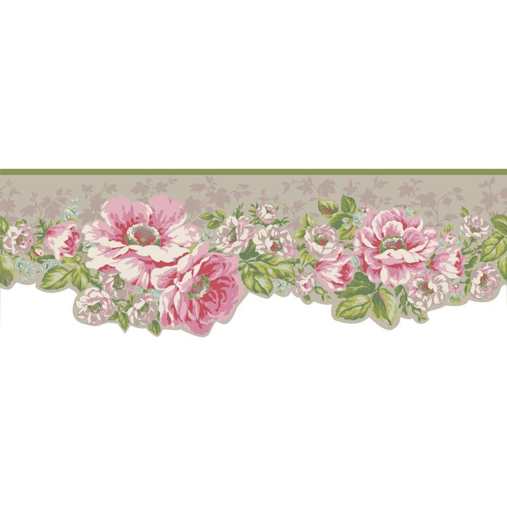 York wallcoverings inspired by color victorian garden for Wallpaper borders for your home
