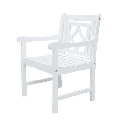 Bradley White Wood Outdoor Dining Chair
