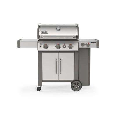 Genesis II S-335 3-Burner Propane Gas Grill in Stainless Steel