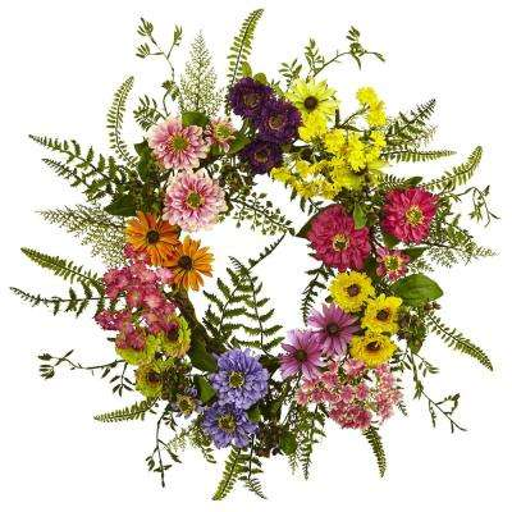 Mixed Flower 22 in. Wreath