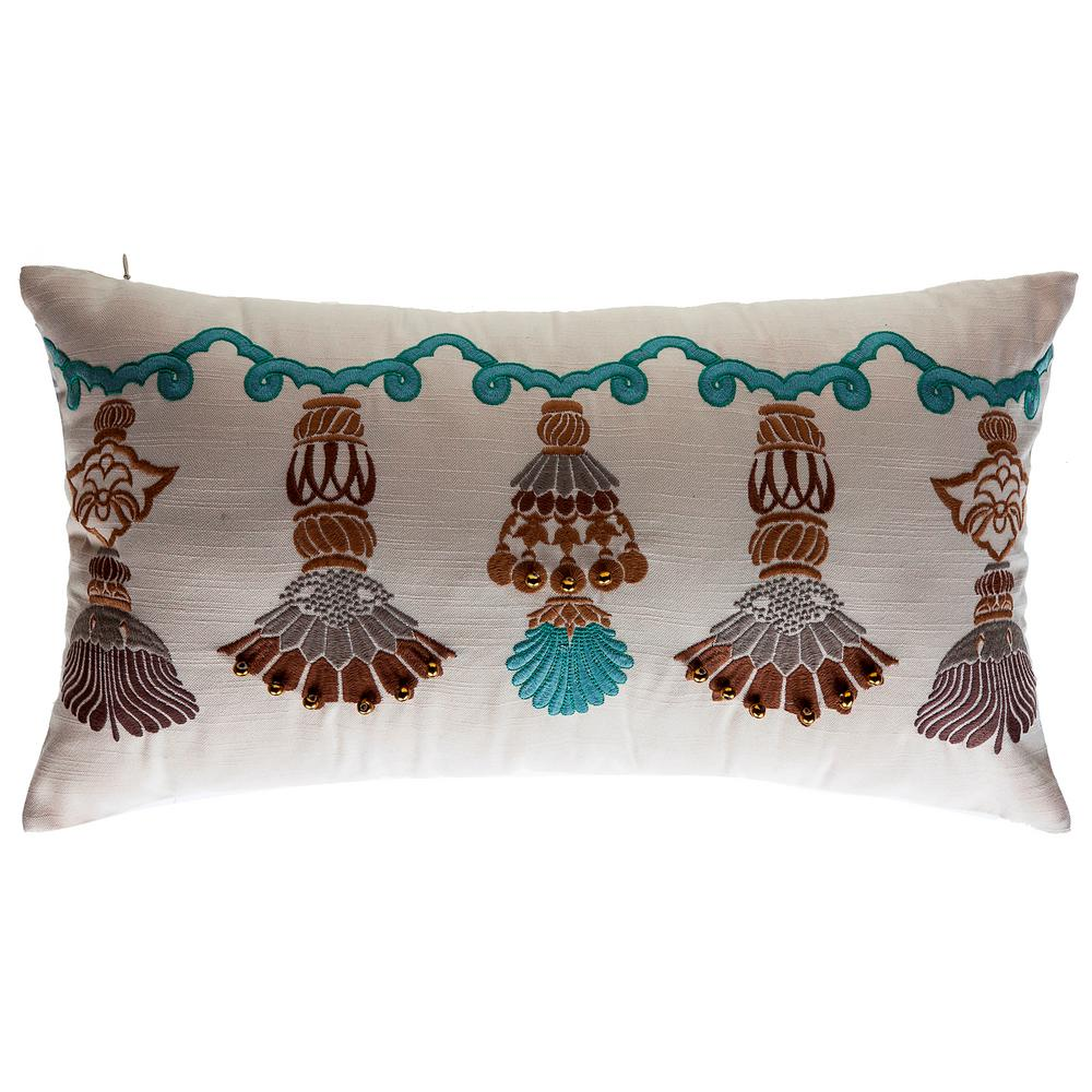 Bombay outdoors india tassels lumbar outdoor throw pillow