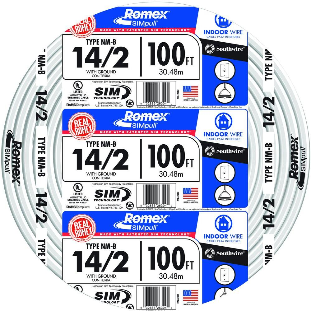 Southwire 250 ft 142 solid romex simpull cu nm b wg wire 28827455 142 solid romex simpull cu nm b wg wire 28827455 the home depot greentooth Images