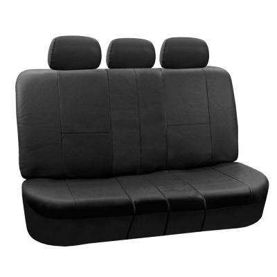 Premium PU Leather 52 in. x 58 in. x 1 in. Split Bench Rear Seat Cover