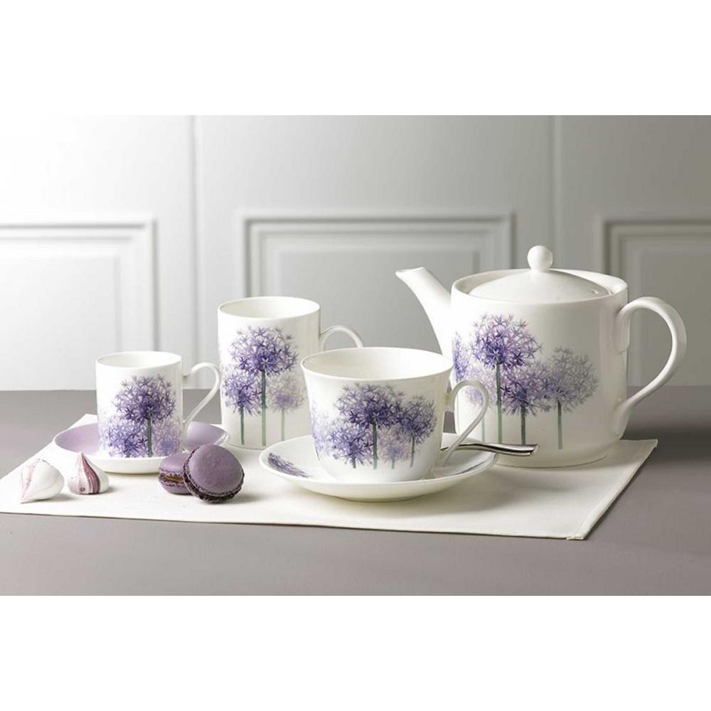 320 ml. Lucy Mug-Alliums Bone China Ceramic Made in England (Set of 6)