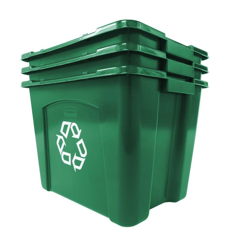 Recycling Bin Polyethylene Rubbermaid Commercial Products 14 Gal ...