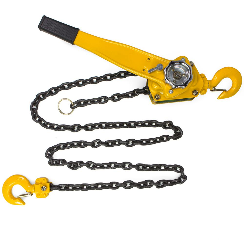 COLIBROX-Come alongs Lowes Come Along Harbor Freight Come Along Tool Home Depot Heavy Duty Come Along 10 ton Come and 1.5 Ton Lever Block Chain Hoist Ratchet Type Come Along Puller 5FT Lifter 1-1//2