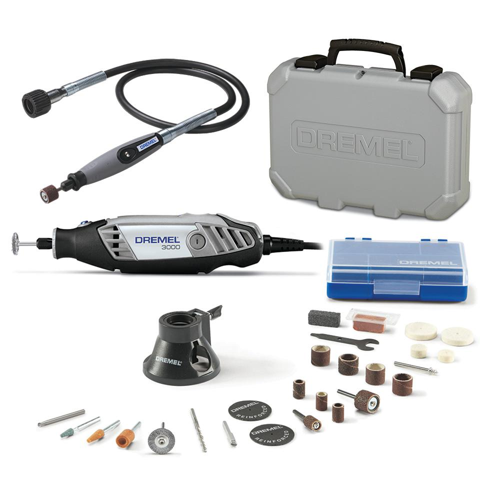 Dremel 36 in. Flex-Shaft Attachment for Rotary Tools + 3000 Series 1.2 Amp Variable Speed Corded Rotary Tool Kit