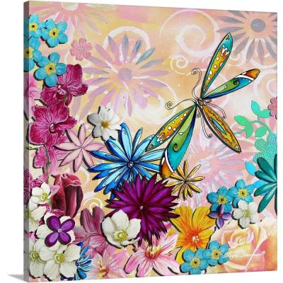 "36 in. x 36 in. ""Whimsical Floral Collage II"" by  Megan Duncanson Canvas Wall Art"