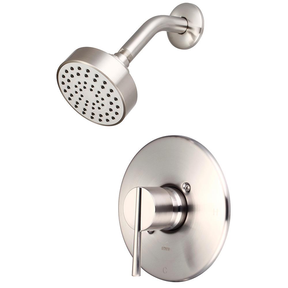 i2v 1-Handle Wall Mount Shower Trim Kit in Brushed Nickel (Valve Not Included)