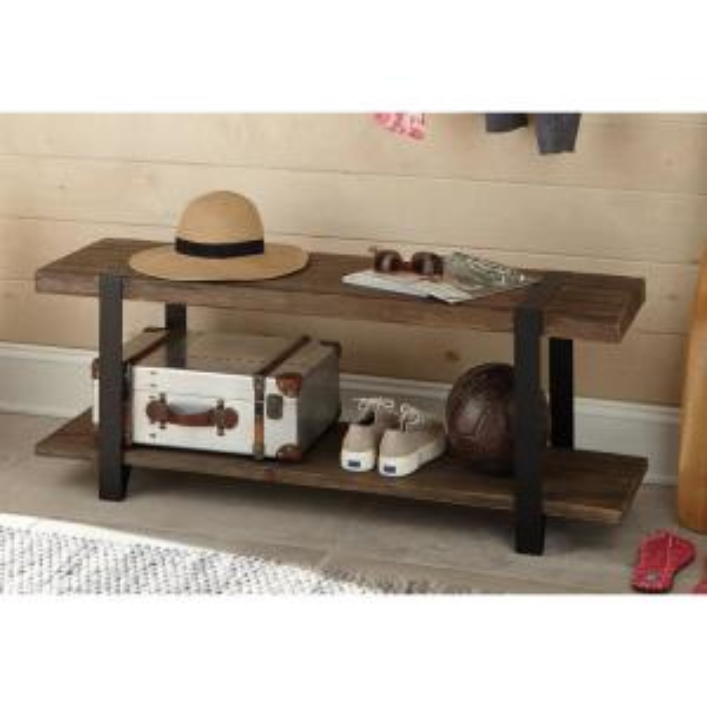 Sensational Alaterre Furniture Modesto Rustic Natural Storage Bench Lamtechconsult Wood Chair Design Ideas Lamtechconsultcom