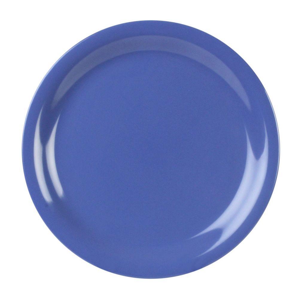 Coleur 6-1/2 in. Narrow Rim Plate in Purple (12-Piece)