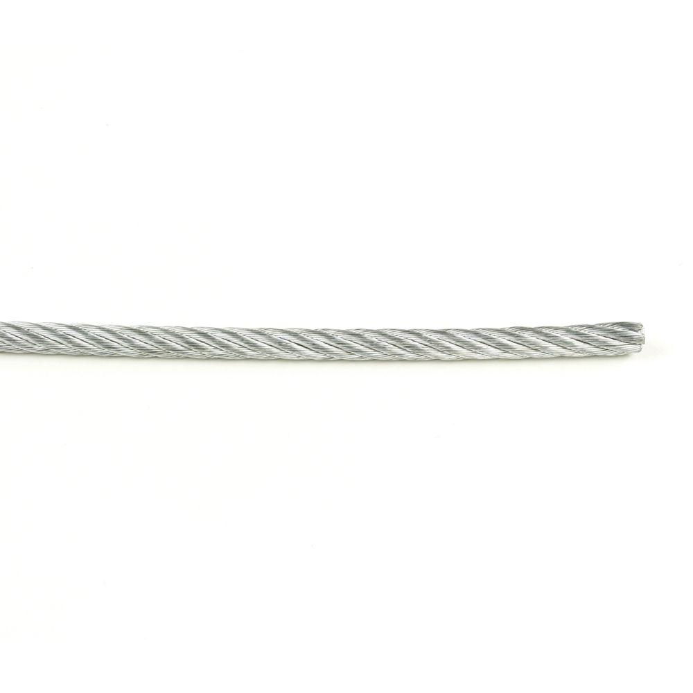 1/16 in. x 1 ft. Galvanized Uncoated Wire Rope