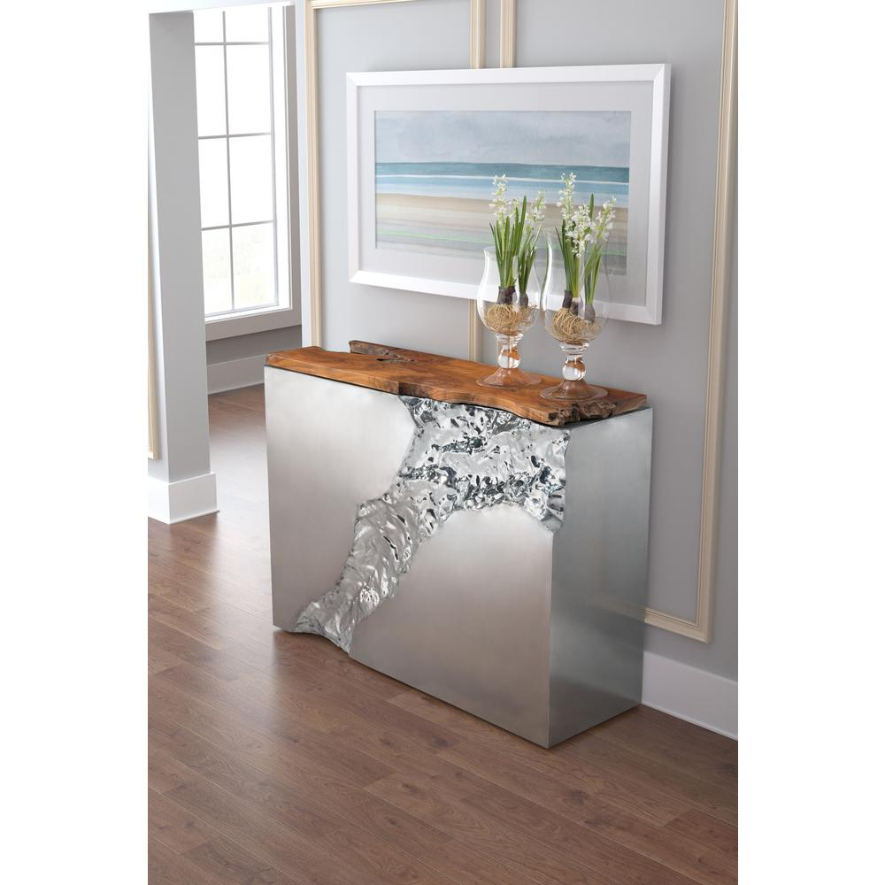 Natural Stainless Steel Console Table Natural Stainless
