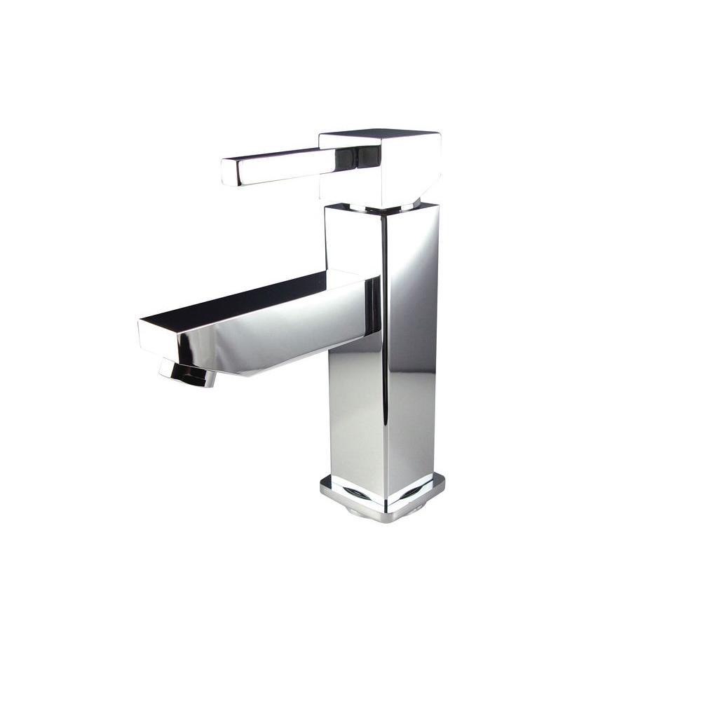 Bevera Single Hole 1-Handle Low-Arc Bathroom Faucet in Chrome
