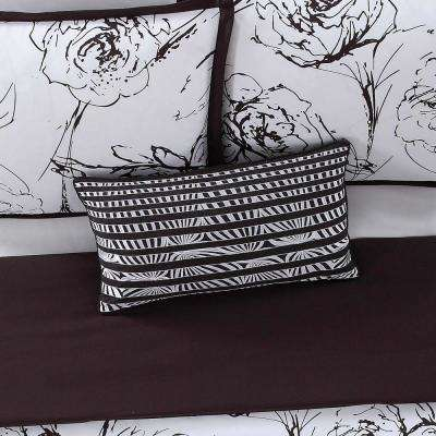 12 in. x 22 in. Graphic Floral Pillow