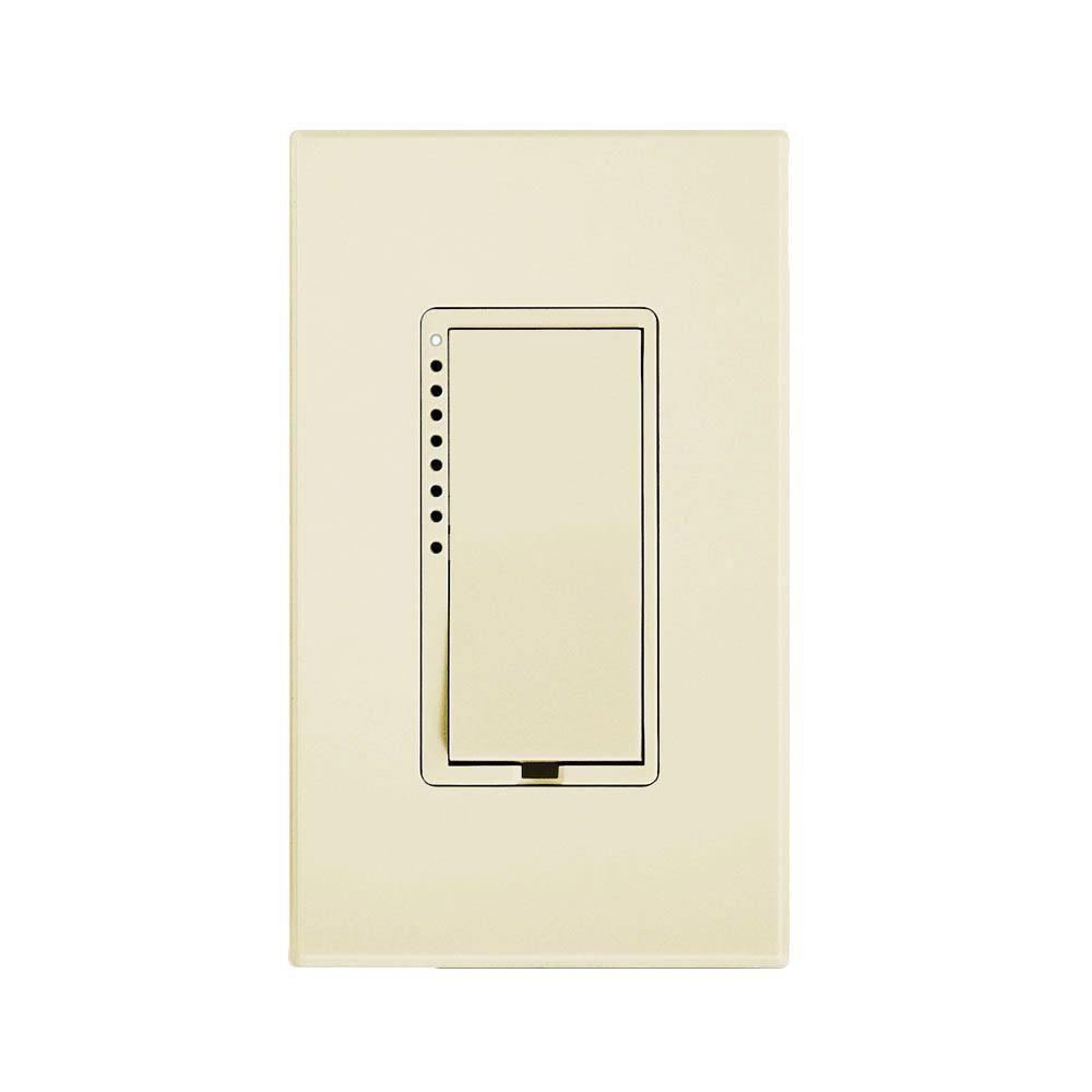 0.59-Watt Multi-Location Tap CFL-LED Dimmer Switch - Ivory