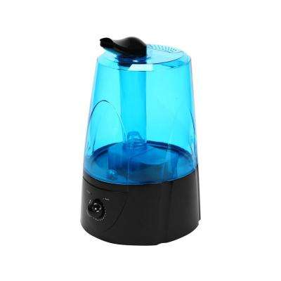 1.3 Gal. Dual Cool Mist Auto Shut-Off Ultrasonic Humidifier with LED Night Light