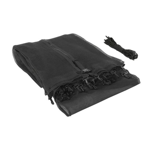 Trampoline Replacement Enclosure Safety Net, Fits for 15 ft. Round Frames Using 3 Arches with Sleeves on Top - Net Only