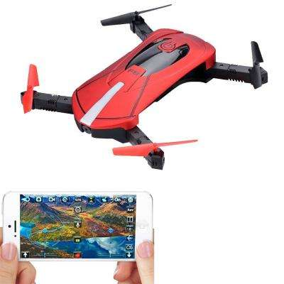 F8 Foldable Pocket Size Selfie Drone Voice Controls 720P HD WiFi FPV Video Camera 360 Stunts  Gravity Control (Red)