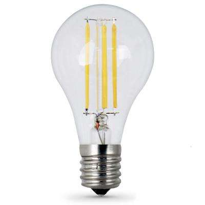 75-Watt Equivalent A15 Intermediate-Base Dimmable Filament LED Clear Glass Light Bulb in Daylight (24-Pack)