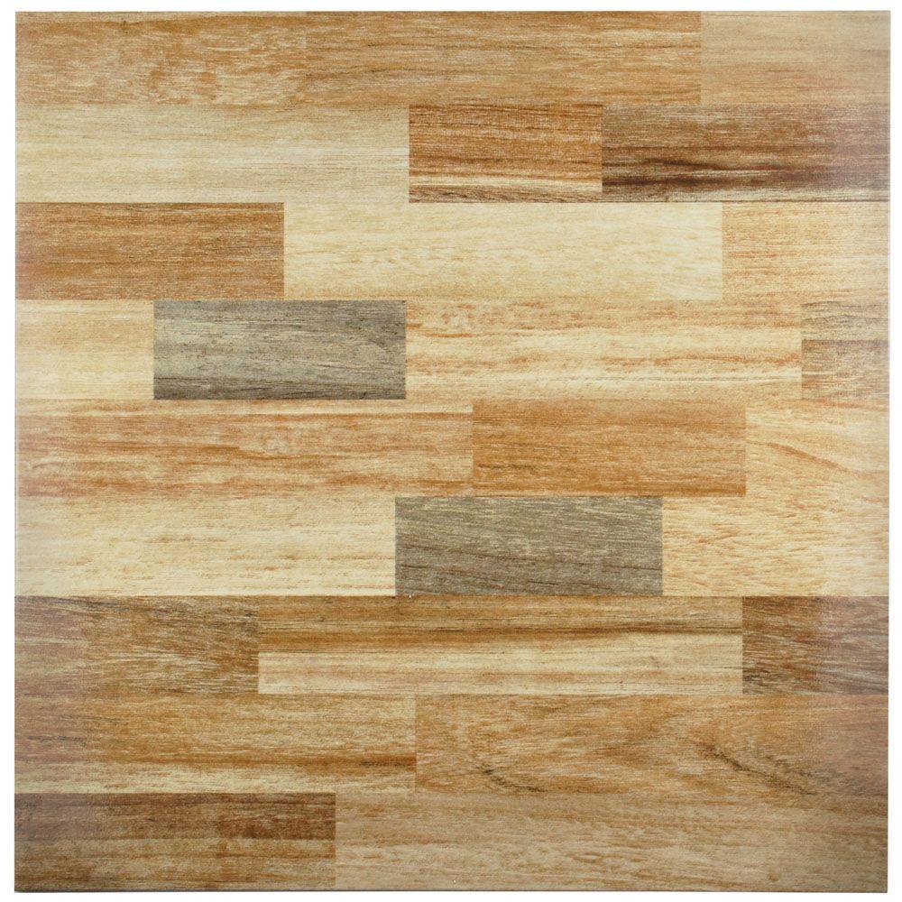 18x18 Wood Tile Flooring The Home Depot