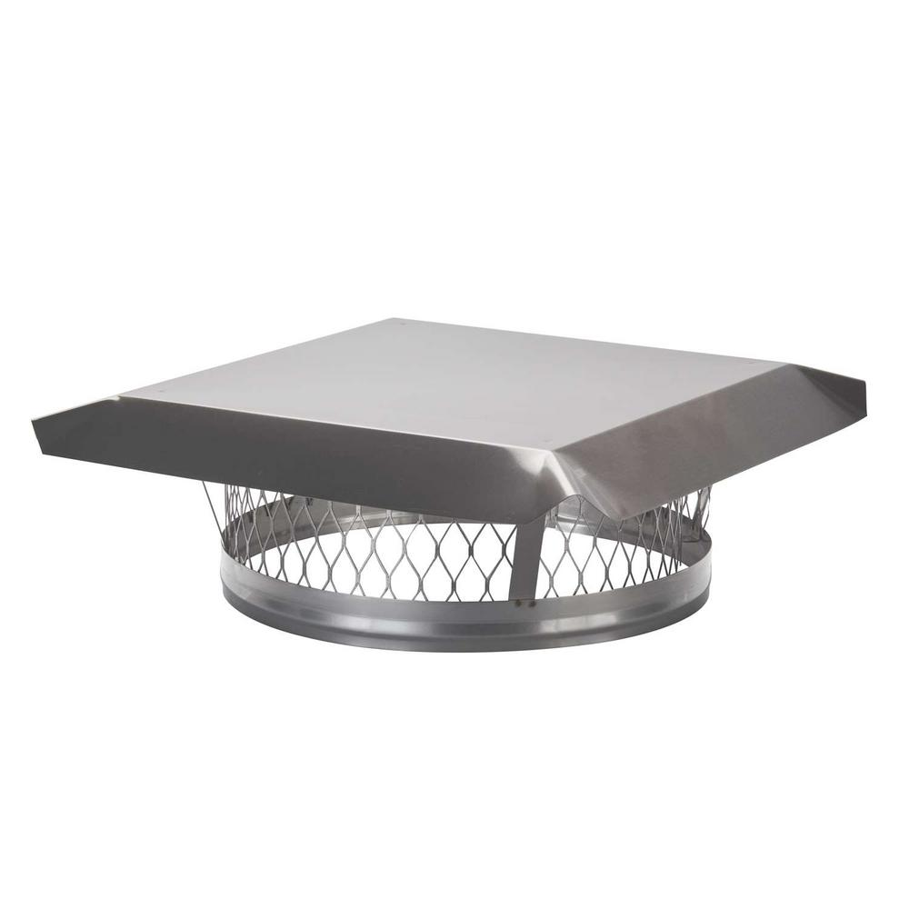 HY-C 14 in. Round Clamp-On Single Flue Liner Chimney Cap in Stainless Steel
