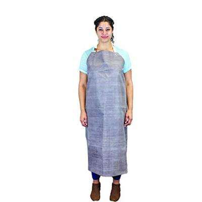 Heavy Duty Nitrile Industrial Bib Apron, Chemical and Oil Resistant (Brown)