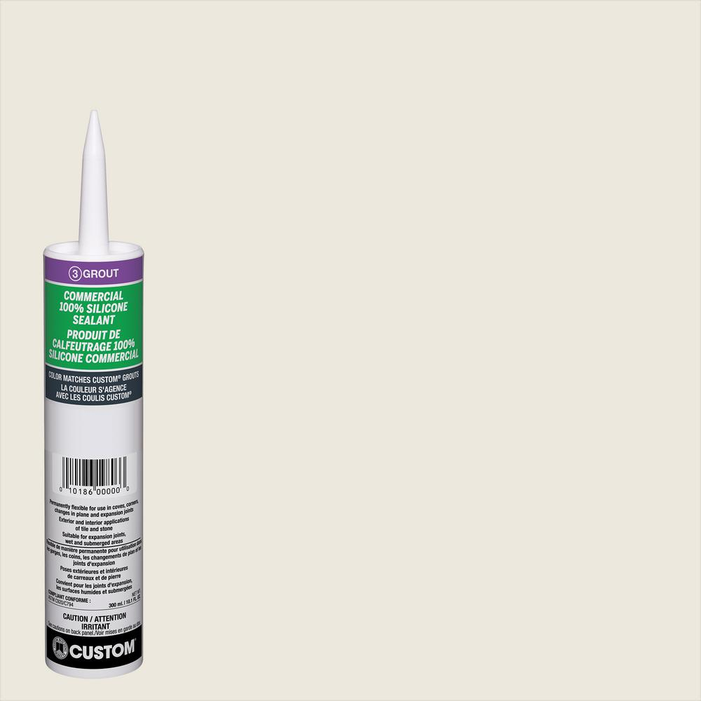 Custom Building Products Commercial 381 Bright White 10 1 Oz Silicone Caulk Ccsc381 The Home Depot