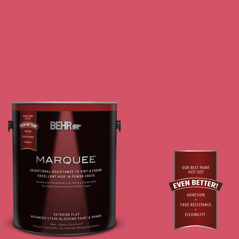 1-gal. #130B-6 Dragon Fruit Flat Exterior Paint