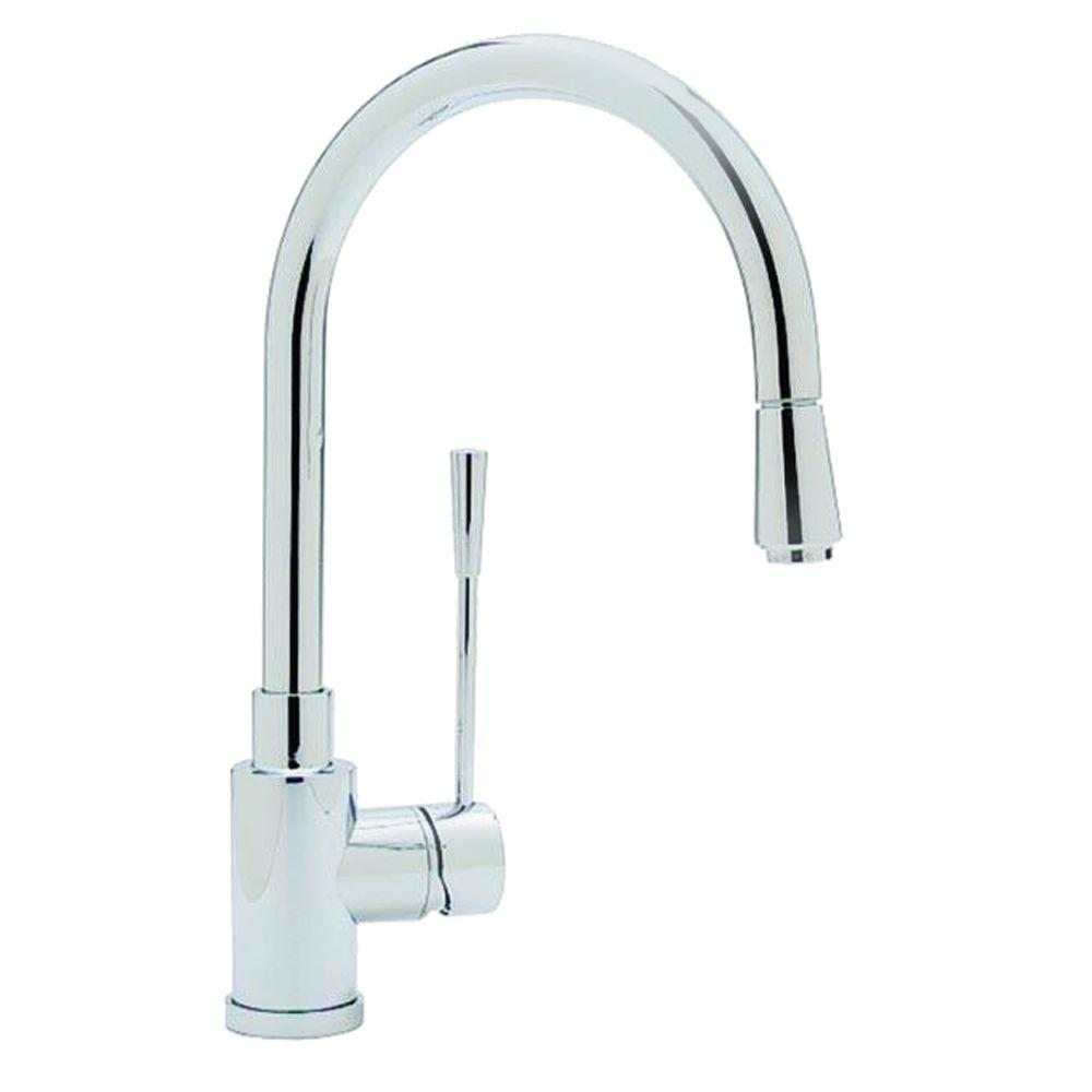 Blanco Kontrole Single-Handle Pull-Down Sprayer Kitchen Faucet in Polished Chrome