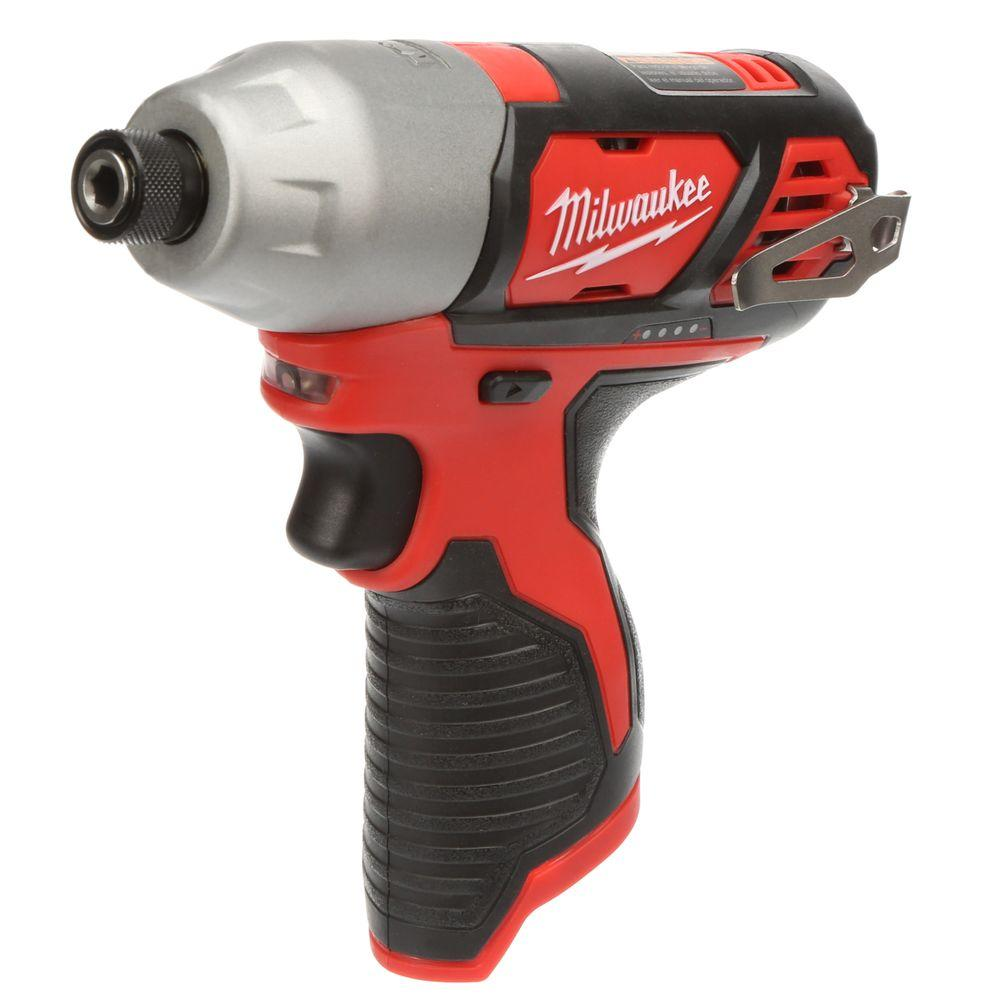 Milwaukee M12 12-Volt Lithium-Ion Cordless 1/4 in. Hex Impact