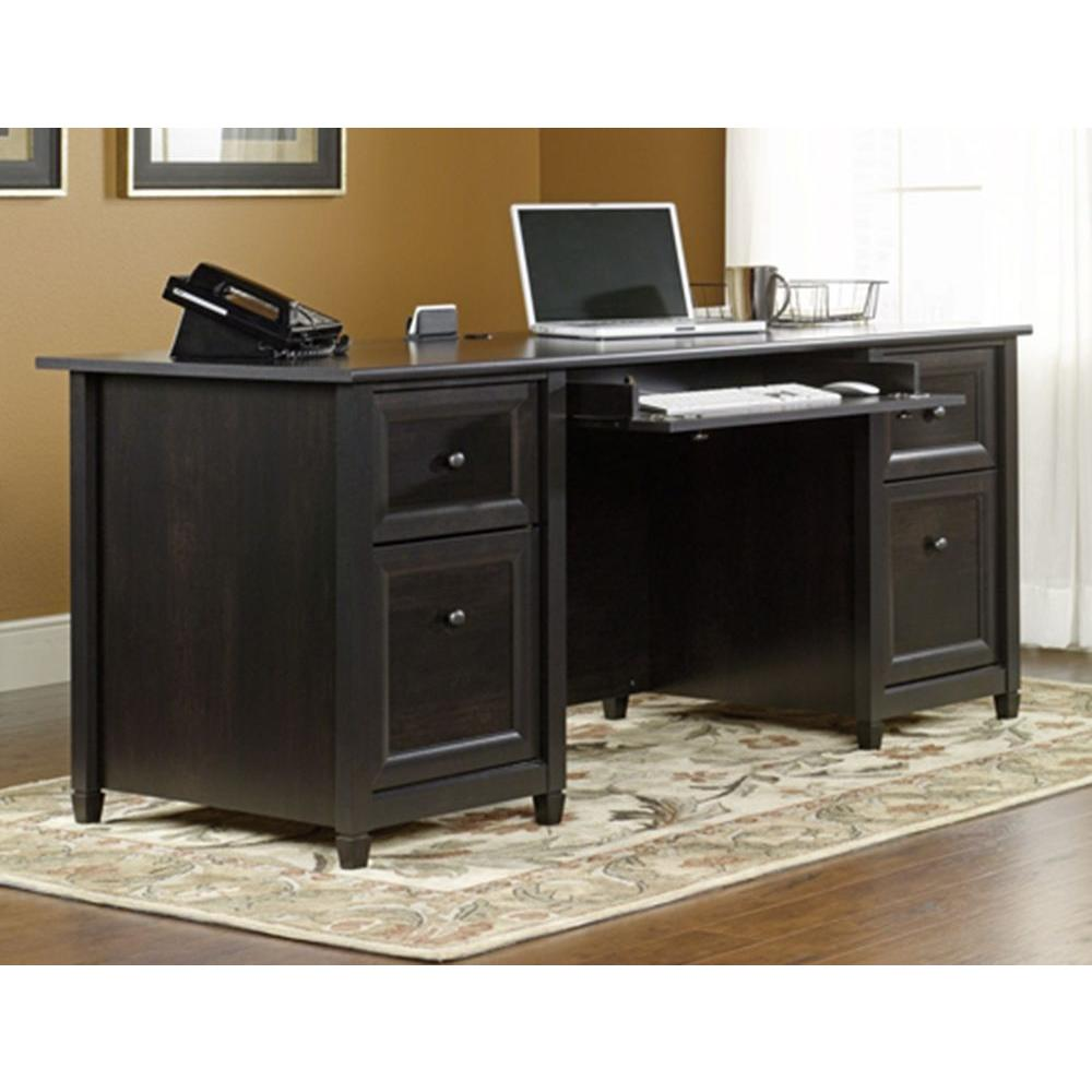 Sauder Edge Water Estate Black Desk