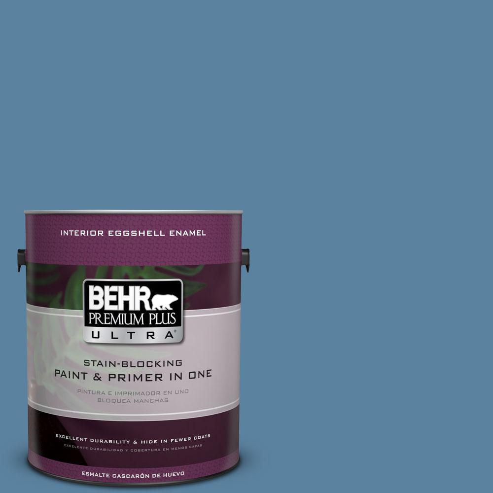 1-gal. #BIC-38 Honest Blue Eggshell Enamel Interior Paint